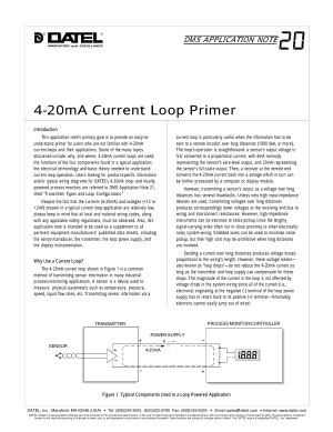 DATEL 4-20mA Current Loop Primer