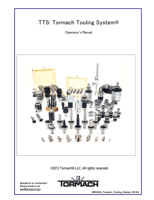 Tormach Tooling System (TTS) Operator's Manual