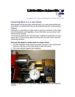 Centering Work in a 4-Jaw Chuck
