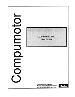 Parker Compumotor CX Indexer Drive User Guide
