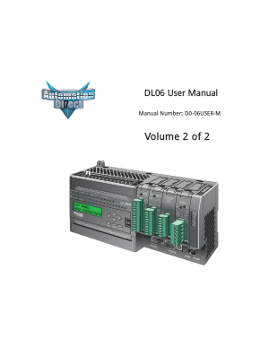 Automation Direct DL06 User Manual vol 2 of 2