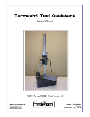 Tormach Tool Assistant Operator's Manual