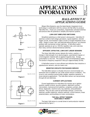 Allegro Hall Sensors HALL-EFFECT IC Applications Guide