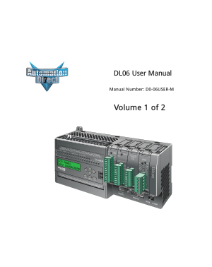 Automation Direct DL06 User Manual vol 1 of 2