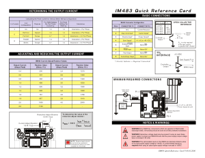 IM483 Quick Reference Card