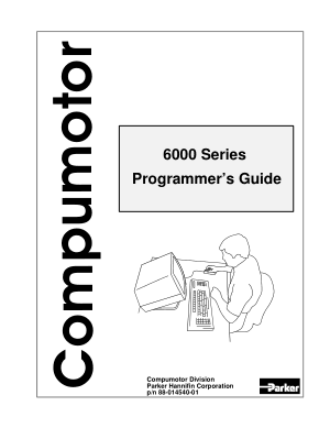 Parker Compumotor 60000 Programmers Guide