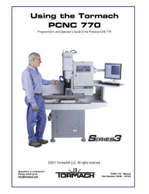 Tormach PCNC 770 Programmer's and Operator's Guide