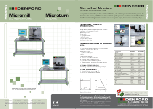 DENFORD Micromill and Microturn