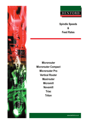 DENFORD Spindle Speeds & Feed Rates