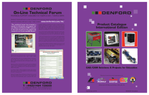 DENFORD Product Catalogue International Edition