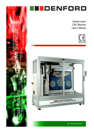 DENFORD Vertical Router CNC Machine User Manual
