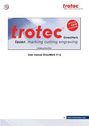 Trotec Laser Direct Mark V1.6 User Manual