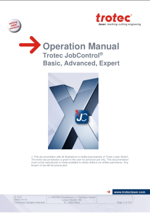 Trotec JobControl Basic Advanced Expert Operation Manual