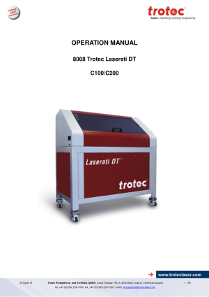 8008 Trotec Laserati DT C100 C200 Operating Manual