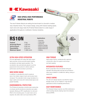 Kawasaki RS10N High-Speed High-Performance Industrial Robots