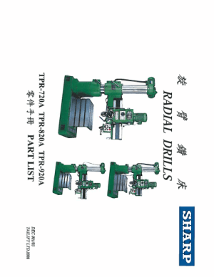 Sharp Radial Drill RD-1600 TPR-820A Parts List