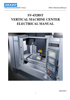 SHARP SV 4328 5127 6332 Electrical Manual