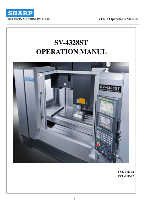 SHARP SV 4328 5127 6332 Operation Manual