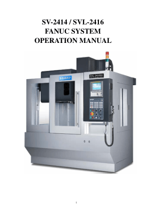 Sharp SVL2416 Fanuc Operation Manual