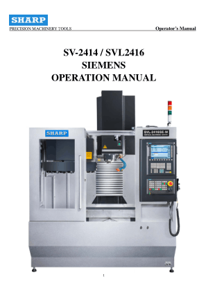 Sharp SVL2416 Siemens Operation Manual