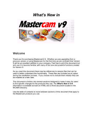 Mastercam 9 What is New