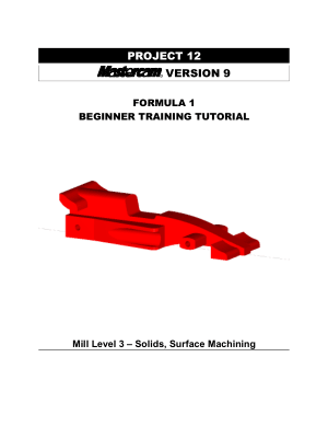 Beginner F1 Tutorial Mastercam version 9