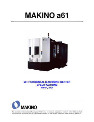 Makino A61 Specifications
