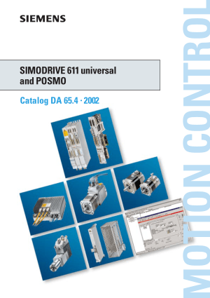 SIMODRIVE 611 universal and POSMO