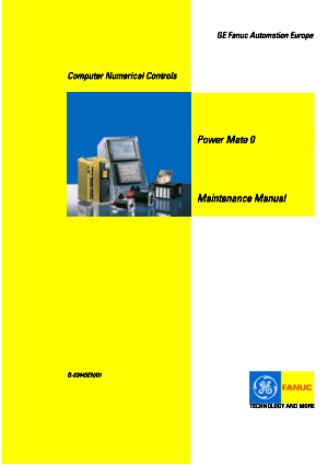 Fanuc Power Mate 0 Maintenance Manual B-63445EN/01