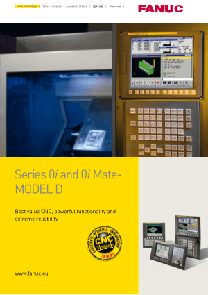 Fanuc Series 0i/0i Mate-Model D Brochure GFTE-550-EN/09