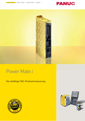 Fanuc Power Mate i-Modell D/H Brochure GFTE-562-GE/05