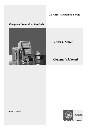 Fanuc Laser C Series Operators Manual B-70114EN/04