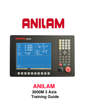 ANILAM 3000M 3 Axis Training Guide