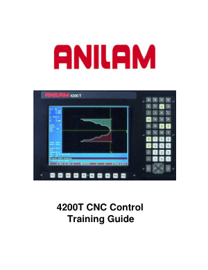 ANILAM 4200T CNC Control Training Guide