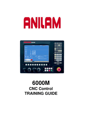 ANILAM 6000M 5000M CNC Control TRAINING GUIDE
