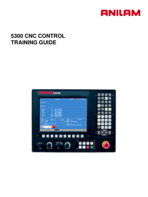 ANILAM 5300 CNC Control Training Guide
