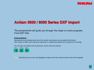 ANILAM 5000 6000 Series DXF Import Tutorial