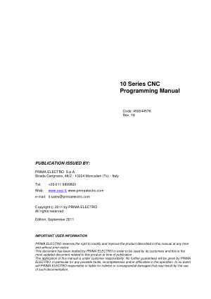 Osai 10 Series CNC Programming Manual
