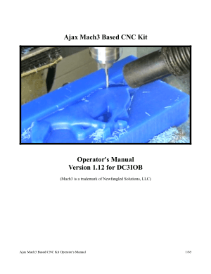 Ajax Mach3 Based CNC Kit Operator's Manual