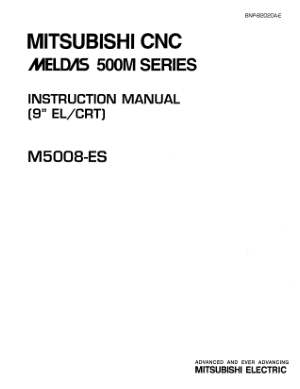 Mitsubishi CNC MELDAS 500M Series Instruction Manual