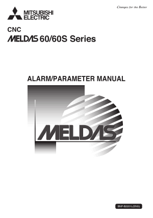 Mitsubishi CNC MELDAS 60/60S Series Alarm/Parameter Manual
