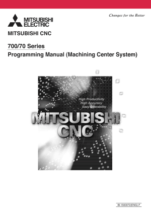 Mitsubishi CNC 700/70 Series Mill Programming Manual