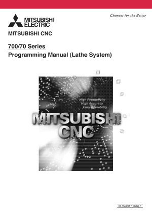 Mitsubishi CNC 700/70 Series Lathe Programming Manual