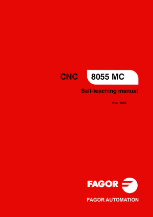 Fagor 8055 MC Self-teaching Manual