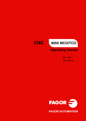 Fagor 8055 MCO/TCO Operating Manual