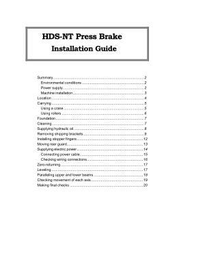 Amada Brake manual