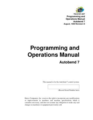 Hurco Ultimax programming manual