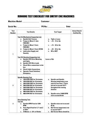Cnc machine maintenance checklist